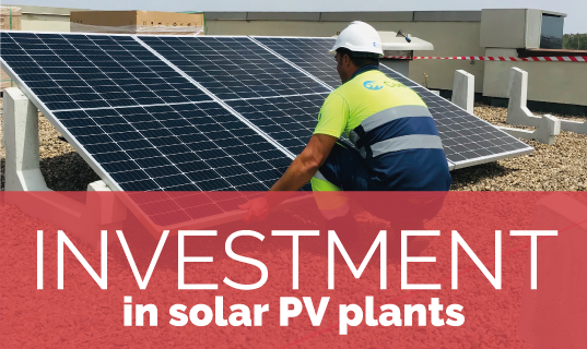 Investment in photovoltaic plants
